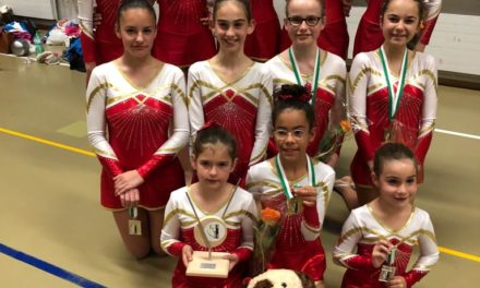 Gymnastique – Championnat Vaudois – Aubonne – Le titre pour Olivia, l'argent pour Ellyne, Romane, le bronze pour Chloé, Clara, Chloé!