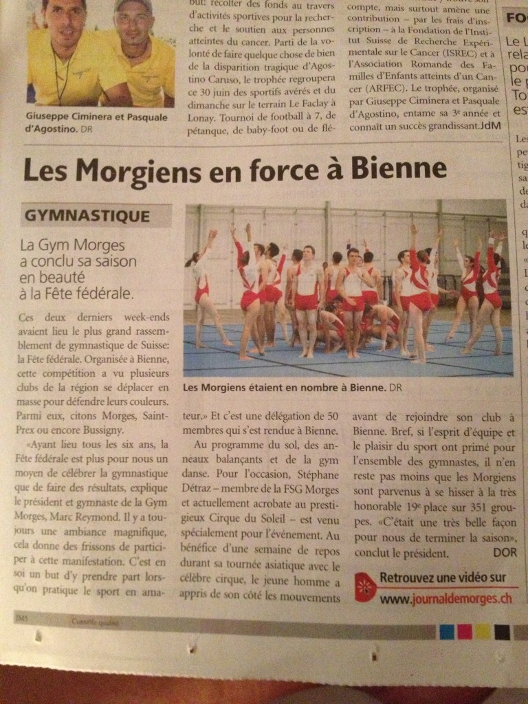 Article journal de Morges28.06.13