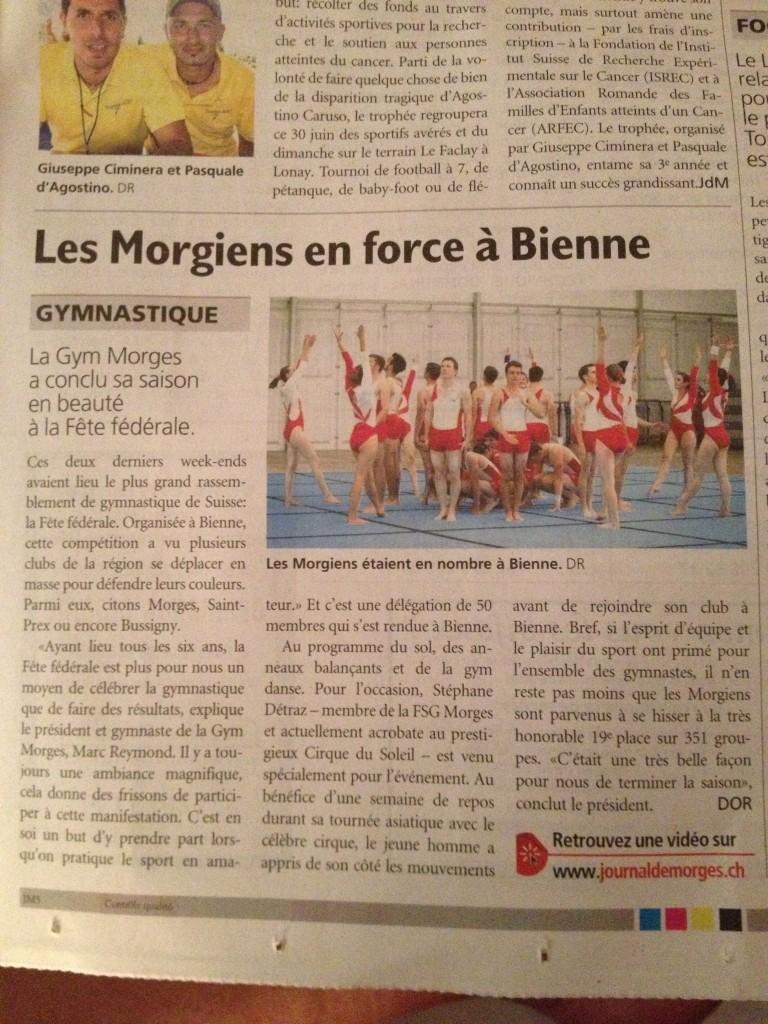 Article journal de Morges28.06.13