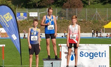 Athlétisme – Championnats Vaudois Multiples – Chailly Sur Montreux – le bronze pour Timéo et Arthur!