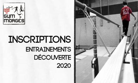 Entrainements «découverte» 2020