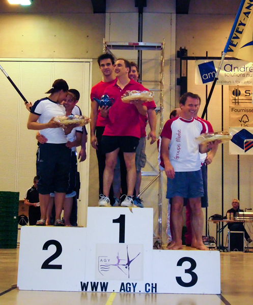 Les entraîneurs Actifs sur le podium