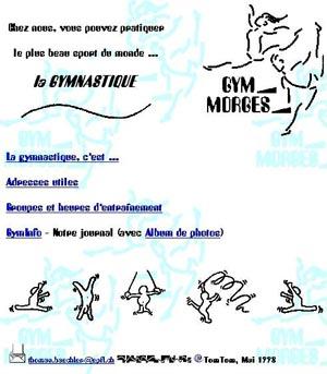 Site GymMorges en 1998