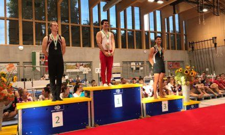 Agrès – Championnats Vaudois – Nyon – Le titre de champion Vaudois pour Stéphane, l'argent pour Gaëlle et le bronze pour Marie.