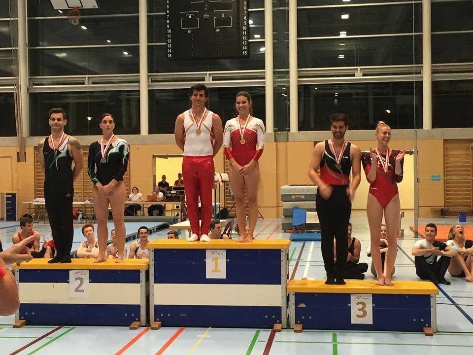 Agrès – Championnats Vaudois – Chexbres – Le titre pour Stéphane et Sarah et pour Stéphane en individuel, la 3ème place pour Gaëlle!