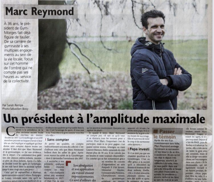 Magnifique article de notre Cher Président dans le Journal de Morges!         Merci Marc pour ton job!
